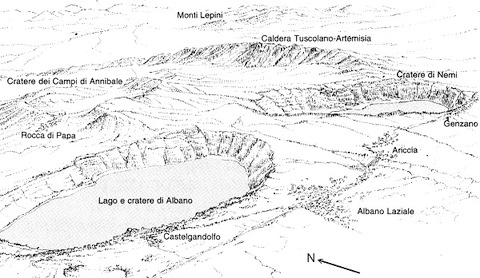 Il Vulcano Laziale e il dragone: la nascita dei Castelli Romani